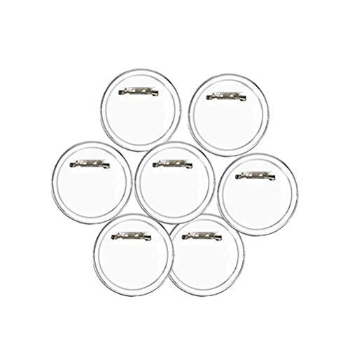 Garneck 30 Stücke Acryl Design Button Clear Button Abzeichen Kit mit Pin für Bastelbedarf (runder Durchmesser 40mm) -