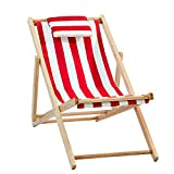 HUIFA Strandkorb Massivholz Liege Falten Leinwand Stuhl Mittagspause Stuhl Stuhl Im Freien Tragbaren Stuhl Begleitet Holzstuhl Faul Stuhl (Farbe : A1)