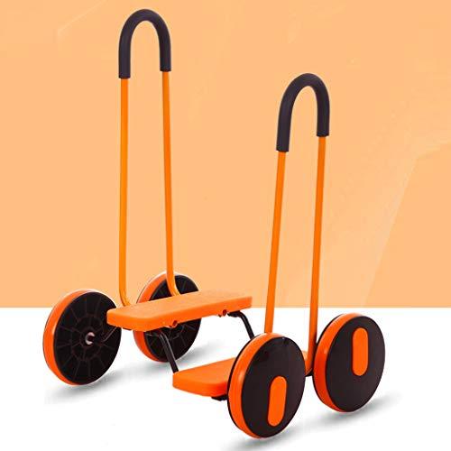 LINLIM Kinder Vierrad Balance Roller Kindergarten Früherziehung Auto Balance Stepper Pedal Outdoor Spielzeugauto Balance Auto E