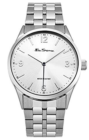 Ben Sherman Men's BS131 Quartz Watch with Silver Dial Analogue Display and Stainless Steel Bracelet
