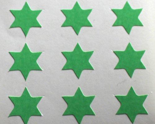 150 Etiquetas, 10mm Forma De Estrella, Verde, Pegatinas Autoadhesivas, Minilabel Formas