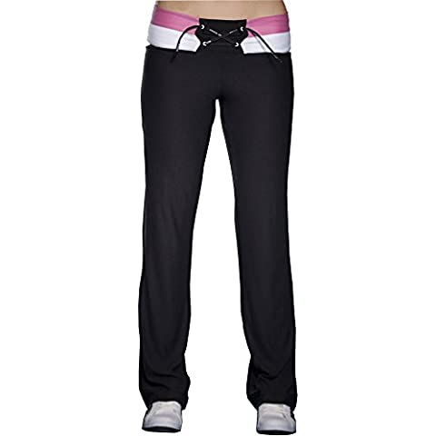 Big Sam Sportswear Company–Pantaloni Jazz da donna Workout aerobica pantaloni Fitness * 947*, nero, S