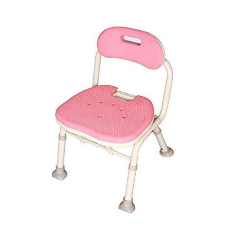 XFPINK-shower chair Aluminiumlegierung Bad Stuhl für die Alten Klappstuhl Toilettenstuhl Bad Stuhl...