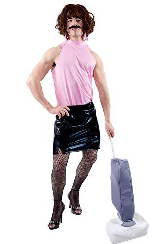 ORION COSTUMES Hausfrau Kostüm mit Perücke Männerballett schwarz-rosa M / - Queen Of Rock Kostüm