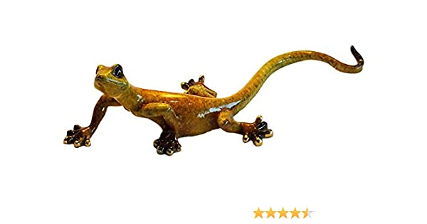 Hand Carved Wood Gecko/'s 2 x Gecko/'s beautiful Ornament 15 cm and 20cm