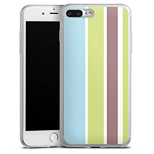 Apple iPhone X Slim Case Silikon Hülle Schutzhülle Streifen Pastell 90er Silikon Slim Case transparent