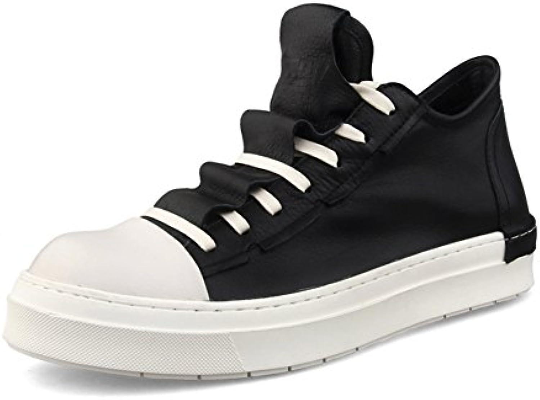 Zapatillas Planas Antideslizantes y Transpirables, para Hombre, con Zapatos con Cordones Ocasionales, Blanco +
