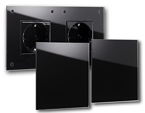 Rohde + Rohde® Negra de 2enchufes con cubierta. Marca de calidad de...