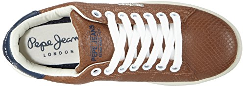 Pepe Jeans - Club Snake, Sneaker basse Donna Marrone (Braun (877NUT BROWN))