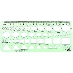 Papelería Redacción Dibujo Geométrico Combinar Plantilla Regla Verde