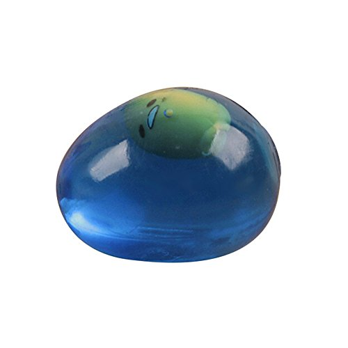 Italily -Spremere creativo spremere l'uovo d'acqua Creativo trasparente Egg Spremere Healing Fun Kids Toy Antistress Decor (green) Blue