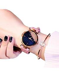 FOONEE Reloj de Mujer Starry Sky Watch, Reloj analógico de Cuarzo con Esfera de Estrella, Superficie de Corte de…