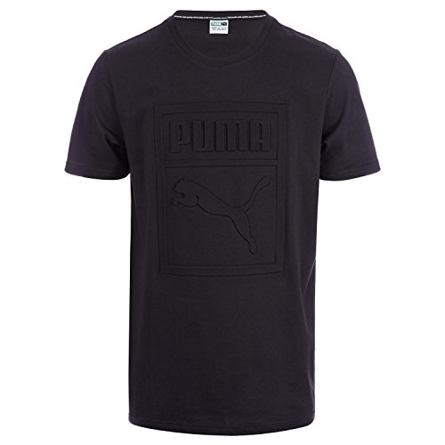 Puma Archive Embossed Logo, T-Shirt Uomo Black
