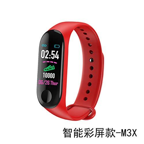 zlywj cardiofrequenzimetro schermo a colori smart braccialetto m3 frequenza cardiaca pressione del sonno monitoraggio fase fase m3x-smart color schermo modello - rosso