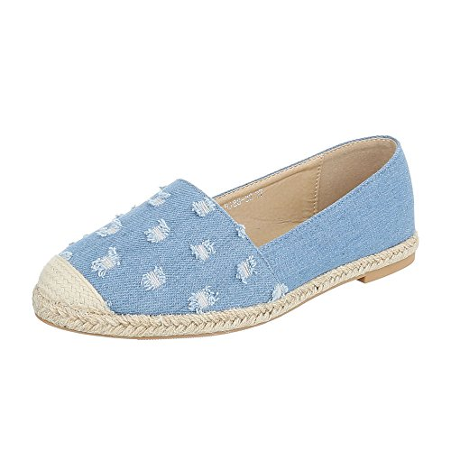 Ital-Design - Low-top Donna Hellblau