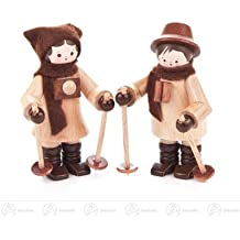 Altura sin pintar de los pares nórdicos miniatura del caminante de la figura figura de la Navidad de aproximadamente 6 del cm OTRA VEZ montañas del mineral de madera