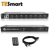 TESmart Commutateur KVM HDMI à 8 Ports 4K...