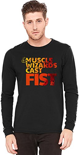 Muscle Wizards Cast Fist Long-Sleeve T-shirt | 100% Preshrunk Jersey Cotton| DTG Printing| Unique & Custom Knit Sweaters, Full Sleeved Jackets, Jerseys & Fashion Clothing By Wicked Wicked