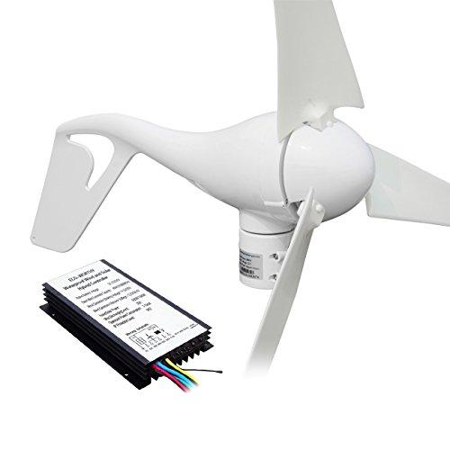 ECO-WORTHY 180w Solarmodul 24v Solarpanel W/ 400W Windkraftanlage 12V/24V Windgenerator Windkraftgenerator - 580W 24V Windkraft und Solarstromanlage Kits -