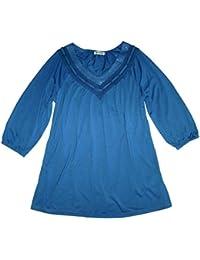 BOYSEN`S Damen Pullover blau meliert Baumwolle GR 40 42 NEU