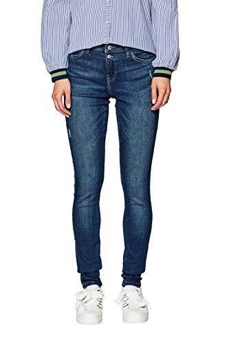 edc by ESPRIT Damen Slim Jeans 088CC1B020, Blau (Blue Dark Wash 901), W32/L32
