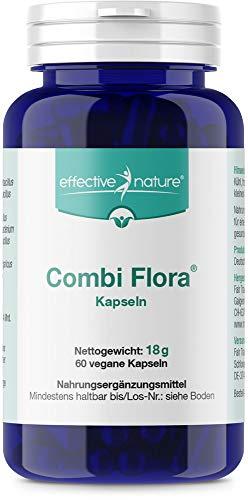effective nature Combi Flora Kapseln zur täglichen Nahrungsergänzung (60 vegane Kapseln)