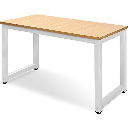 Merax Tisch Computertisch Schreibtisch Bürotisch Arbeitstisch PC-Tisch (Eiche_2)