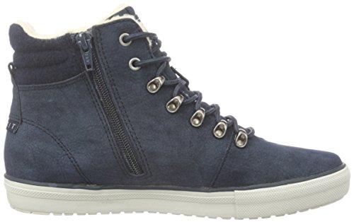 Esprit Mika, Sneakers Hautes Femme Bleu (400 Navy)