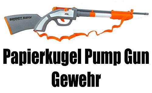 Brigamo 4785 - Papierkugel Pump Gun Spielzeug Gewehr mit 60 Schuß Munition
