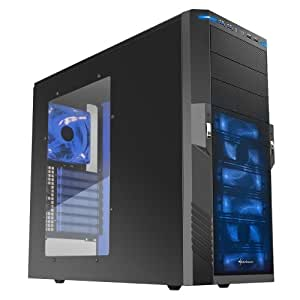 Sharkoon T9 Value blue edition PC-Gehäuse (Midi Tower, ATX, USB 3.0) schwarz