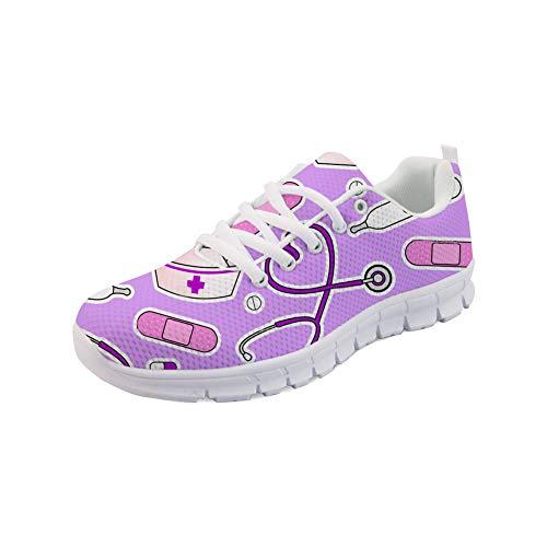 Showudesigns Damen Sportschuhe Laufschuhe rutschfeste Sneakers Turnschuhe Walkingschuhe Pille Lila (Ca Sportschuhe)