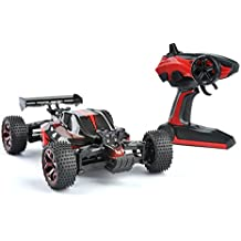 GizmoVine RC Auto Telecomandate 4WD Alta Velocità, Scala 1:18, telecomando a 2.4Ghz Maggiolino Elettrico da Corsa, Vehicle con Batteria Ricaricabile - Rossa