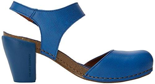 Art 1281 Memphis I Feel, Sandales Bout Ouvert Femme Bleu (Sea)
