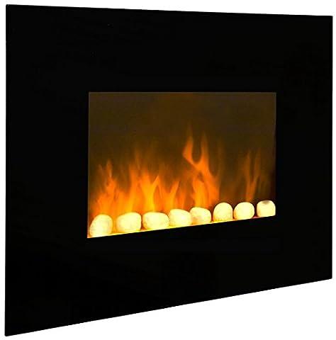 Chemin'Arte 039 Cheminée électrique black fire Acier (Termostato Di Sicurezza)