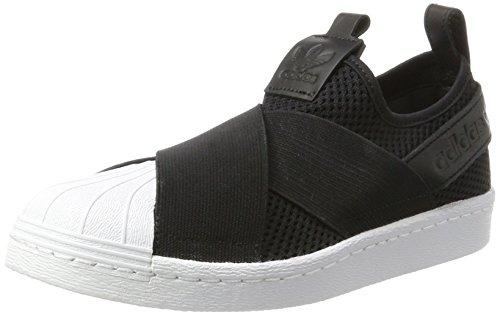 adidas Superstar Slipon W, Zapatillas de Baloncesto para Mujer, Varios Colores (Core Black/Core Black/Ftwr White), 38 EU