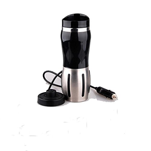 Ruirui-Auto électrique tasse, tasse auto, bouilloire électrique de voyage, ventouses, bouilloire , black