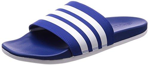 adidas Herren Adilette Cloudfoam Plus Stripes Badeschuhe, Blau (Collegiate Royal/Footwear White/Collegiate Royal 0), 43 EU