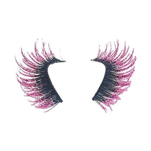 Natürliche Lockenstab (happy event 5 Paare Luxus 3D Rosa Criss Kreuzen Falsche/Künstliche Wimpern Natürliche für Make-up | 3D Pink Luxury Crisscross False Eyelashes HOT Eye Lashes)