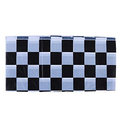 Ogquaton Premium Color Sólido Mantel Desechable Cuadrado Mantel de Boda Cumpleaños Vajilla Utensilios de Cocina Utensilios de Cocina Negro y Blanco a Cuadros