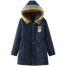 JUTOO 2018 Abrigo de Piel de Abrigo Largo cálido para Mujer Chaqueta con Capucha Slim Winter