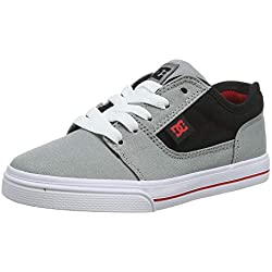 DC Shoes Tonik TX, Zapatillas de Skateboard para Niños, Gris (Grey/Black/Red Xskr), 38 EU