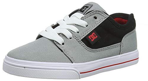 DC Shoes Jungen Tonik TX Skateboardschuhe, Grau (Grey/Black/red XSKR), 34 EU