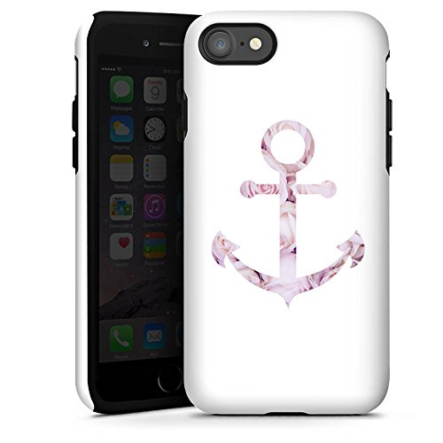 Apple iPhone 7 Hülle Case Handyhülle Anker Rosen Sommer Tough Case glänzend