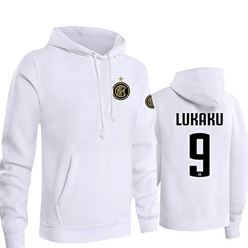 QAZWSX Serie A Milan Team Inter Lukaku Herren-Uniformpullover Mit Kapuze Und Samtige Kapuzenjacke Für Herren Und Damen -