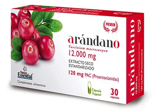 Nature Essential - Arandano Rojo 120 PAC. (Ext. Seco) 30 Capsulas Vegetales