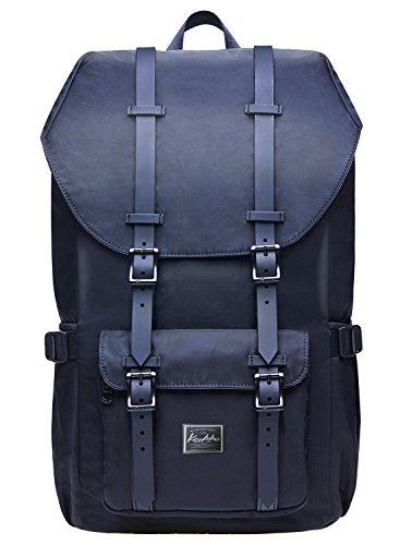 """KAUKKO Rucksack Damen Herren Studenten 17 Zoll Backpack für 15\"""" Notebook Lässiger Daypacks Schüler Bag für Wandern 45 cm, 22.4 L"""