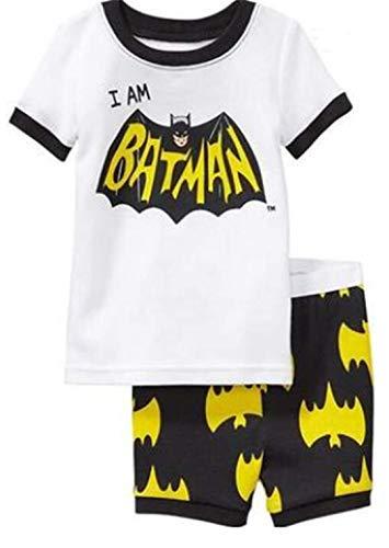 Sommerkurzschlusspyjamakindersuperheld-Rächer des kleinen Jungen (Batman, 110CM - 5T) (Jungen Für Batman-schlafanzug)