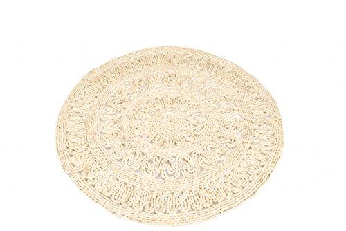 Nadeco® strohteppich mit muster 90 cm rund maisstrohteppich natur