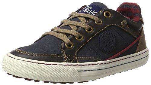 s.Oliver Jungen 43100 Sneaker, Blau (Navy), 35 EU