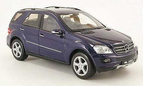 Mercedes ML 350 (W164), noire-bleu, Model Car, Miniature déjà montée, Welly 1:24